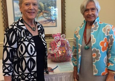 Jane Fitzpatrick and Ginny Caldwell, Raffle Basket Co-Chairs
