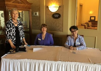 Jane Fitzpatrick, Teresa Jenkins and Sara Benson greeting guests