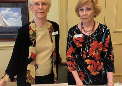 Nancy Lewis and Lois Modrow, Friends Membership Co-Chairs