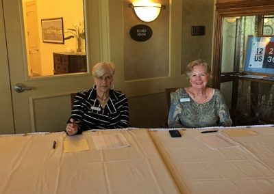 Susan Cravens and Jerri Marsee at the registration table