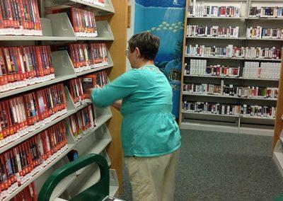 A Volunteer at Work at the Punta Gorda Library