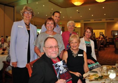 Alvin Gould - sponsor, Jan Roemler, Judi Roth - sponsor, Celia Eames, Katie Mazzi, Mary Knowlton, Author Gregg Hurwitz