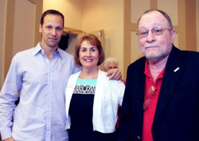 Punta Gorda Library Literary Luncheon, author Gregg Hurwitz, Katie Mazzi and Alvin Gould