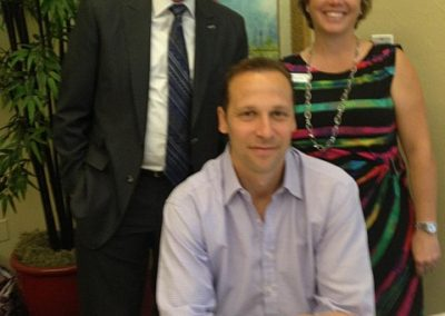 Author Gregg Hurwitz, Lew and Julie Bennett