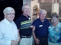 John Dibble, Jim Mazzi, Hank and Linda Bauman