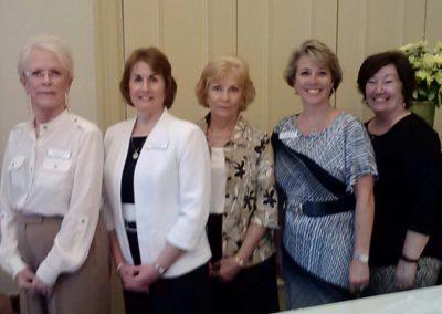 Nancy Lewis, Katie Mazzi, Lois Modrow, Julie Bennett, Joy Dibble