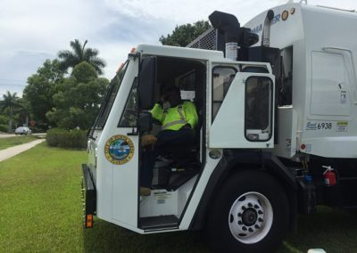 The kids could check out a garbage truck