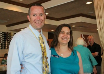 Tommy Scott, Community Services Dir. & Alison Layne, Librarian Supervisor
