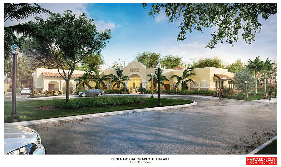 Punta Gorda New Library Rendering Southeast View