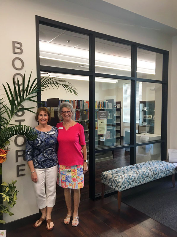 Punta Gorda Charlotte Library | Katie and Judi in front of the Bookstore