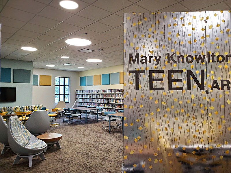 "Picture of the ""Mary Knowleton Teen Room"" at the Punta Gorda Charlotte Library"
