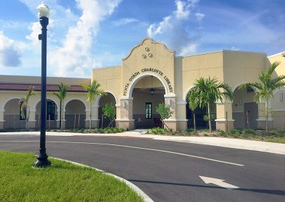New Punta Gorda Charlotte Library Building with Drive-up Service